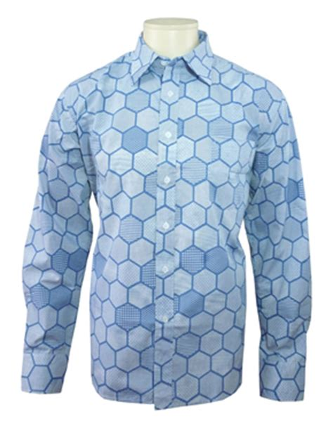 hexagon pattern shirt joker shirt heath ledger joker hexagon light blue shirt