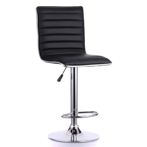 adjustable swivel leather bar stools 2pcs leather pneumatic swivel bar stools chairs height