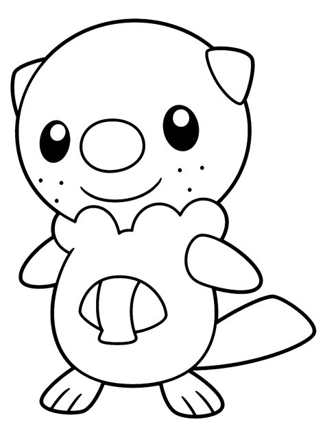 pokemon coloring pages pansage pokemon paradijs kleurplaat oshawott