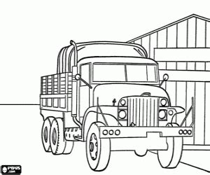 box truck coloring page open box truck parked next to a store coloring page