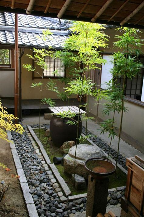 Japanese Garden Decorating Ideas 15 Mix Modern Japanese Courtyard With Nature House Design And Decor