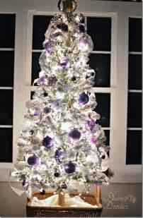 tree silver white:  christmas tree purple lavender silver white plumdoodlescom