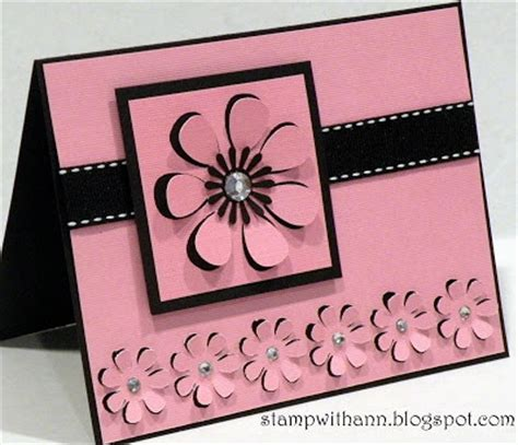 Best Handmade Cards Designs - st with 3d flowers card