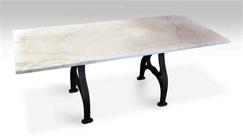Marble Base Dining Table Antique Marble Dining Table With Iron Industrial Base Olde Things