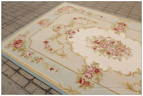 Shabby Chic Area Rug Blue Ivory W Pink Aubusson Area Rug Free Ship Wool Woven Shabby Chic Ebay