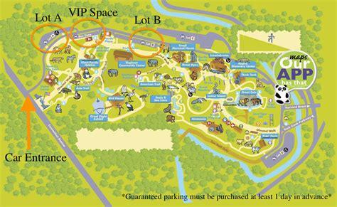 national zoo map smithsonian national zoo parking parking panda
