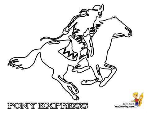 pony express coloring pages ride em cowboy coloring free coloring for kids