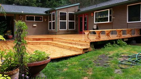 west olympia cedar deck replacement ajb landscaping fence