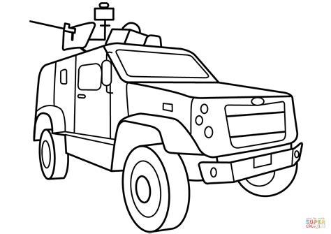 vehicle coloring pages printable oshkosh m atv vehicle coloring page free printable