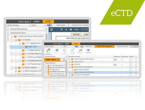 ectd publishing software and services clireo ectd