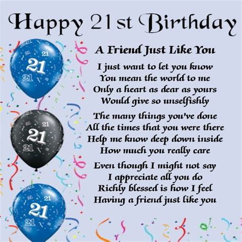 Best Friend 21st Birthday Quotes Modal Title