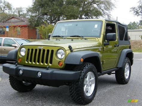 2008 rescue green metallic jeep wrangler rubicon 4x4 6564594 gtcarlot car color galleries