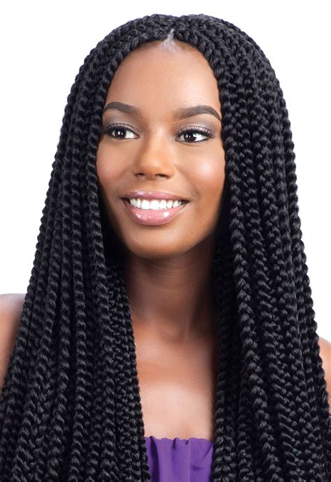 Longch Small model model glance crochet braid large box braid