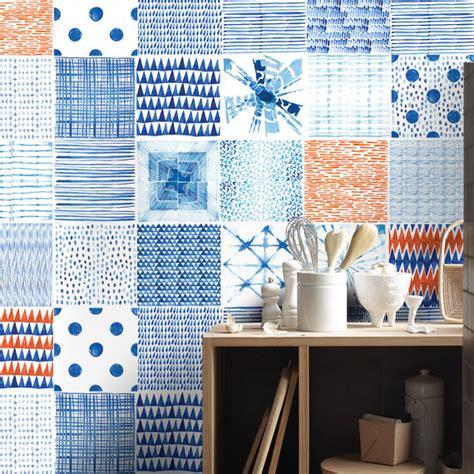backsplash decals shibori tile decals tile stickers kitchen tiles