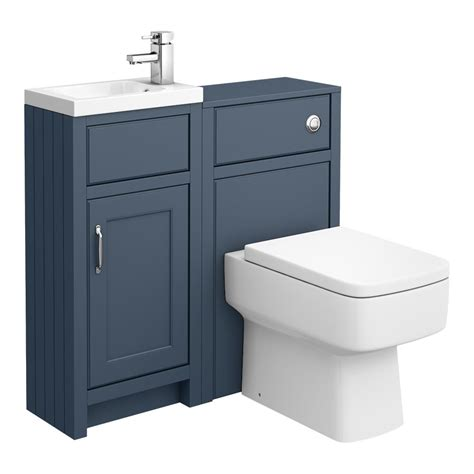 chatsworth traditional blue cloakroom suite victorian