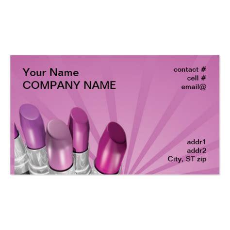 pink shades lipstick business card template