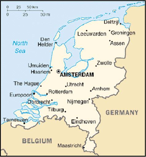 netherlands map of country the netherlands country overview eubusiness eu