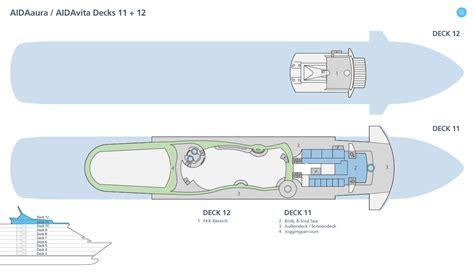 Deck 11 Aidaprima by Decksplan Aidavita Deckspl 228 Ne Aidavita Aida Kreuzfahrten