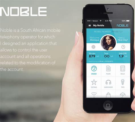 mobile app design inspiration noble designbeep