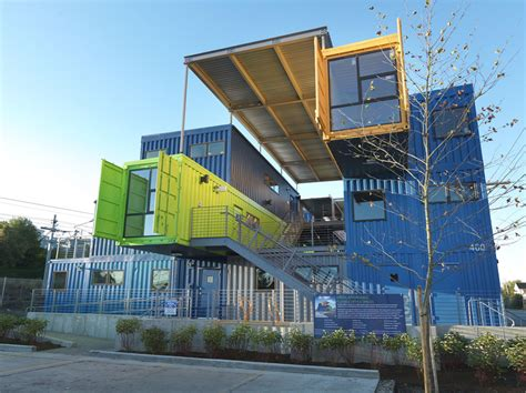 Garages With Apartments by In Providence The Shipping Container Office Building Zdnet