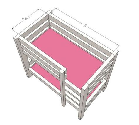 American Girl Bunk Bed Plans Bed Plans Diy Blueprints American Doll Bunk Bed Plans
