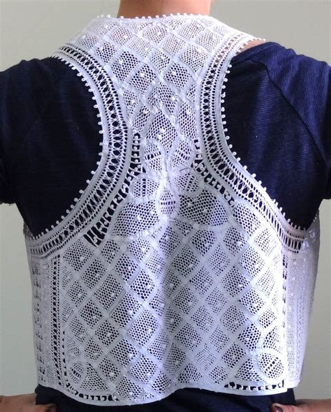 Macrame Vest Pattern - 17 best images about lace on vest