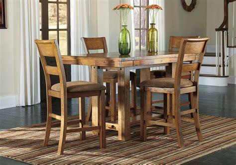 bar height dining room sets krinden counter height dining table and 4 chairs