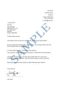 letter of resignation sample lawpath