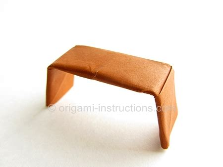 Origami Piano Bench - easy origami bench folding