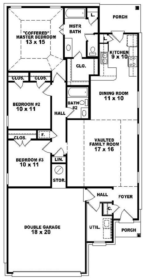awesome one story house plans simple one story four bedroom house plans
