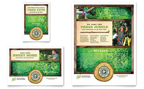Tree Service Advertising Template Tree Service Flyer Ad Template Design