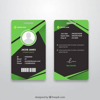 free id card template coreldraw id vectors photos and psd files free