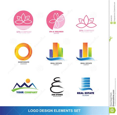 design elements company logo design elements set stock vector image 66348133