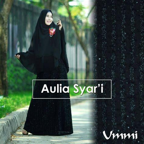 Dm Ameera Gamis Tosca aulia black baju muslim gamis modern
