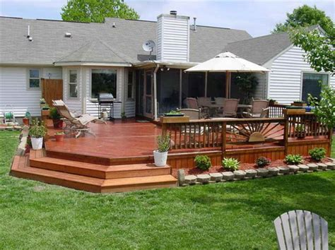 backyard wood patio ideas diy step up 2 level patio deck here s a lovely wooden