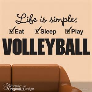 Volleyball Wall Stickers Large Volleyball Decal Sports Decor Vinyl Wall Decal Girls