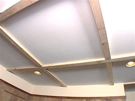 How To Build A Suspended Ceiling by How To Create A Coffered Ceiling Hgtv