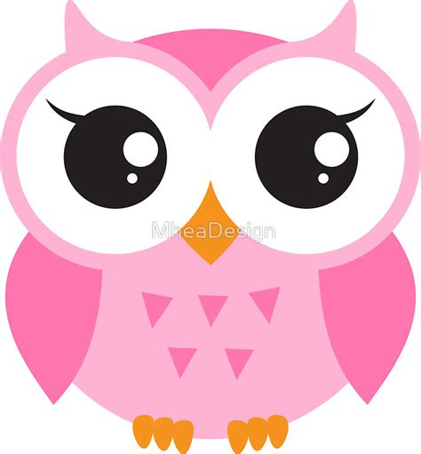 Nest Home Decor by Quot Cute Pink Baby Owl Sticker Quot Stickers By Mheadesign