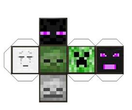 Papercraft Dies - 43 best images about minecraft crafts on caves