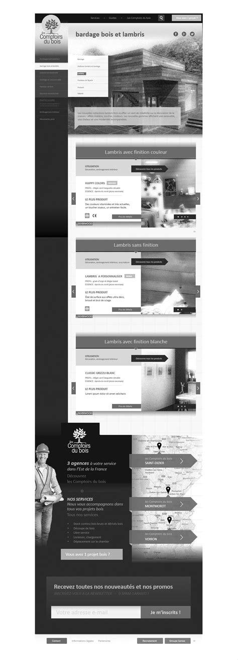 Comptoir Du Bois by Ux Les Comptoirs Du Bois Site Business Exemple De