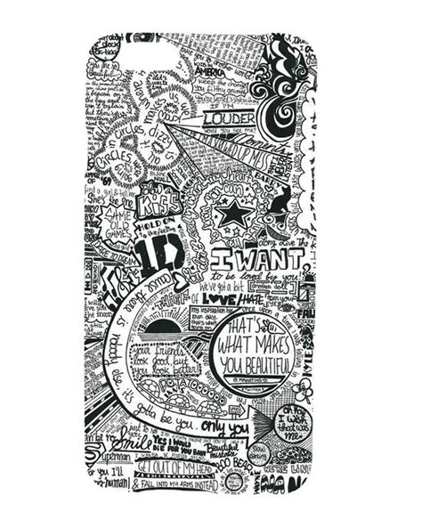One Direction Lyric 1d X0025 Casing Iphone 7 Custom Cover one direction 1d graffiti collage design cover for iphone 6 plus 7 50 one