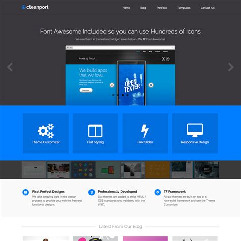 pictures by themes cleanport flat wordpress theme wpexplorer