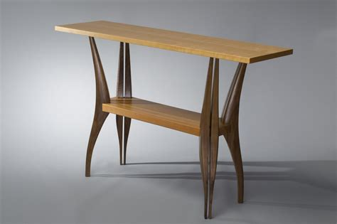 cherry wood hallway table gazelle table solid walnut and cherry wood table