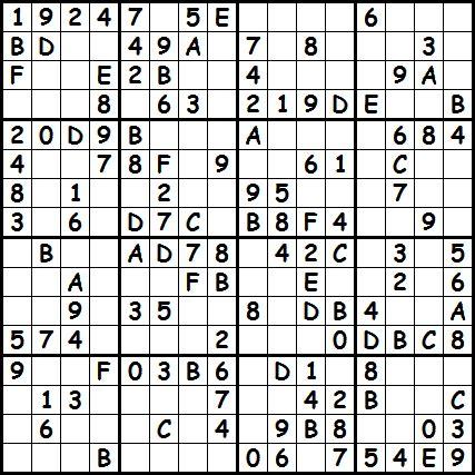 16x16 sudoku printable challenger sudoku 16 x 16