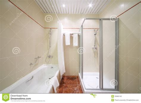 What To Clean Tub With When Empty light empty and clean bathroom stock photography image