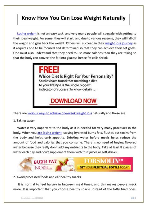 Pdf This How You Lose by Ppt How You Can Lose Weight Naturally Pdf