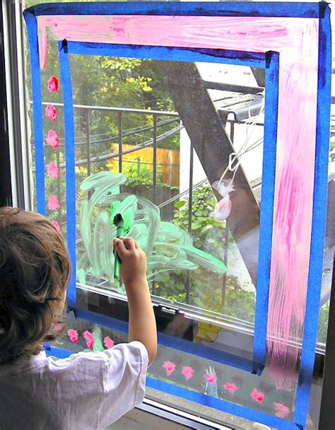 Ideas On Decorating Your Home window painting rainy day activity for kids