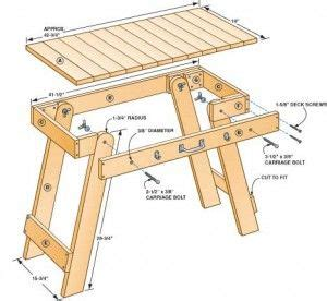 portable grill table plans garage pinterest