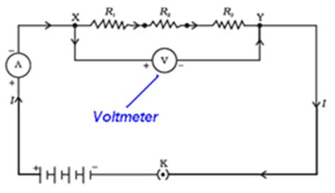 what is used to measures the potential difference across a resistor class ten electricity ncert exercise solution