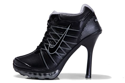 nike air max 2009 high heel shoes black